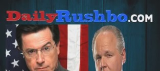 Rush limbaugh blasts stephen colbert late show selection