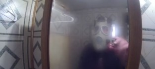 Father pranks son in shower