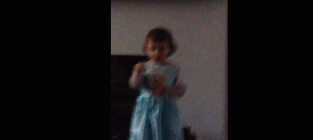 Toddler tries to sing frozen yells at interrupting mother