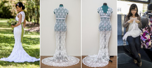 Homemade wedding dress stop motion awesomeness