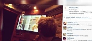Aaron carter creepily watches lizzie mcguire