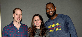 Lebron james embraces kate middleton