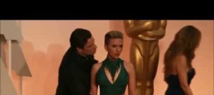 John travolta kisses scarlett johansson