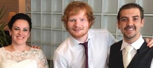 Ed sheeran his surprise wedding performance