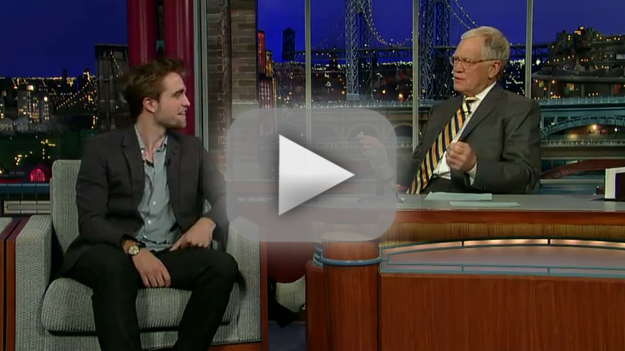 Robert Pattinson on The Late Show