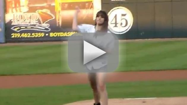 Michael Jackson Kids Throw Out First Pitches