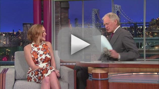 Lindsay Lohan on Letterman