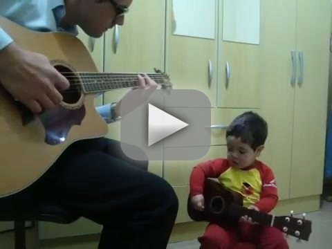 Boy Duets with Father on The Beatles