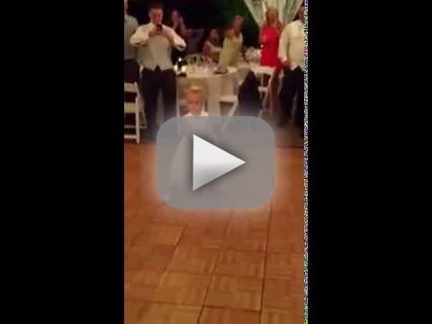 Little Girl Dances at Wedding