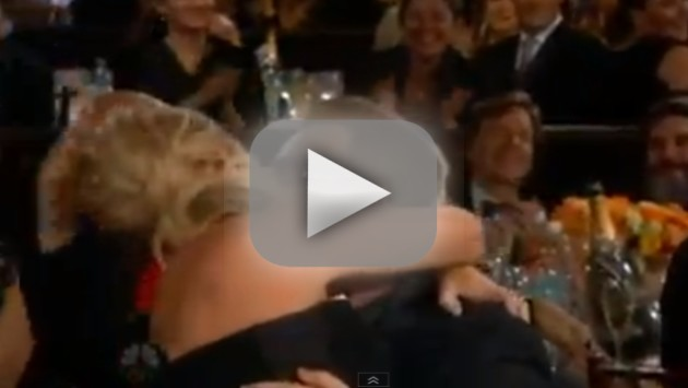 Amy Poehler Wins, Kisses Bono
