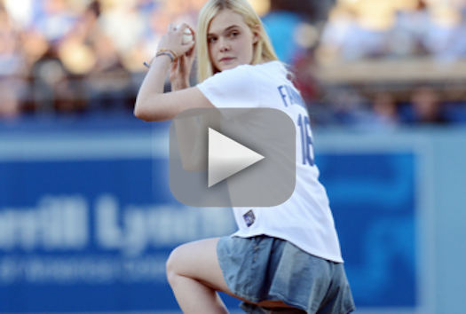 Elle Fanning First Pitch WIN