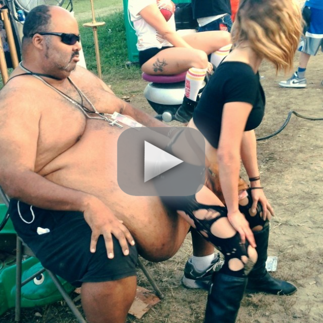 Woman Twerks on Giant Beer Gut
