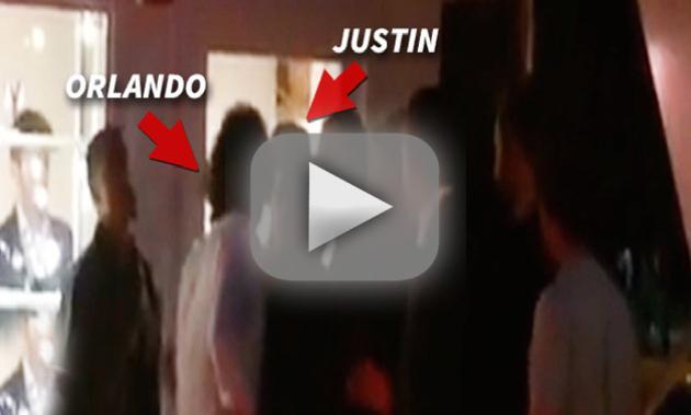 Orlando Bloom-Justin Bieber Fight