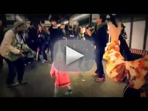 Girl Dances on NYC Subway Platform