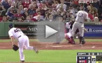 Alex Rodriguez Beaned at Fenway Park