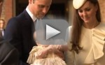 Prince George Waves at Christening