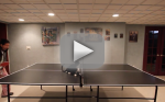 Cat Attempts to Play Ping Pong