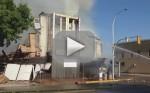 Cat Escapes Destroyed Building