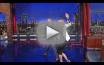Jennifer Lawrence and David Letterman Walk Off Set