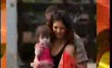 Suri Cruise On Set