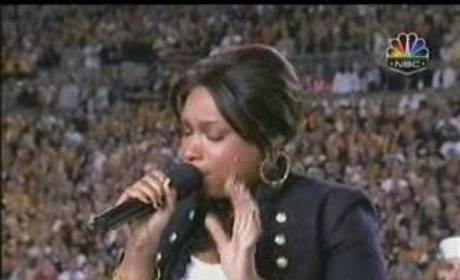 Jennifer Hudson at Super Bowl XLIII