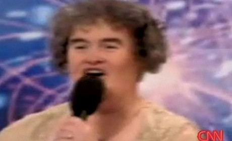 Susan Boyle Appears, Sings on Larry King Live