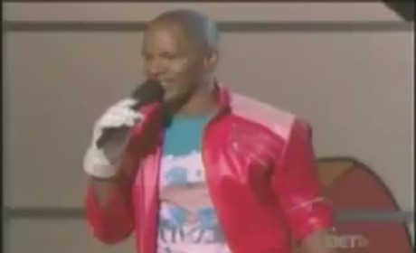 Jamie Foxx Does the Moonwalk at BET Awards