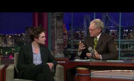 David Letterman to Robert Pattinson: Bite Me!