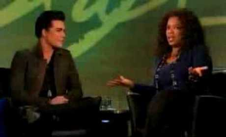 Adam with Oprah