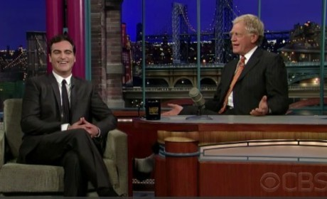 David Letterman and Joaquin Phoenix Reunite