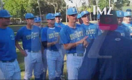 Charlie Sheen Advice to UCLA Baseball Team: Less Crack, More Chocolate Milk