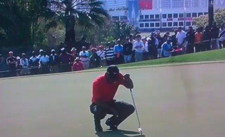 Tiger Woods Spitting on Green