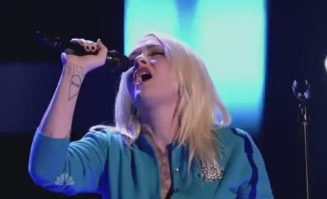 Emily Valentine on The Voice - Sober