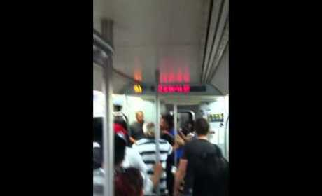 Crazy Chicks Throw Down on Subway
