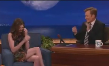 Anne Hathaway Gangsta Raps on Conan