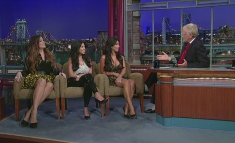 Kardashian Sisters Appear on The Late Show, Talk Kim's Butt