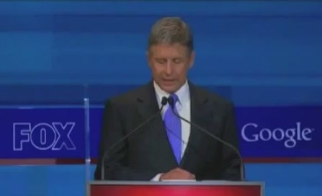 Gary Johnson Zings President Obama at GOP Debate