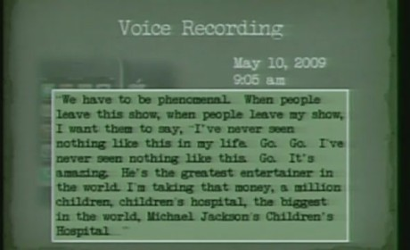 Michael Jackson Recording at Dr. Conrad Murray Trial