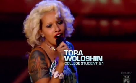 Tora Woloshin X Factor Audition