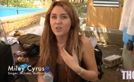 Miley Cyrus Helps in Haiti