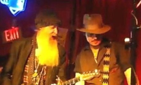 Johnny Depp Jams with ZZ Top