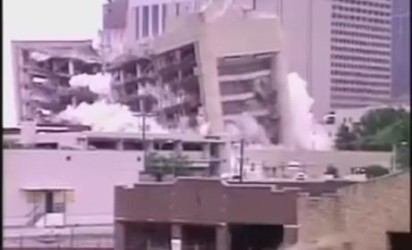 Reporter Mistimes Building Demolition