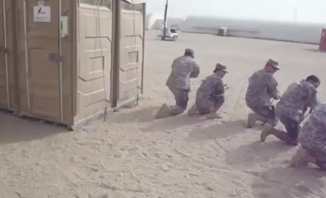 Military Police Clear the Porta-John