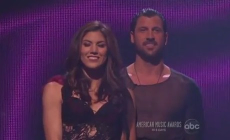 Hope Solo and Maksim Chmerkovskiy Elimination