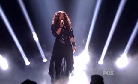 Melanie Amaro Puts on X Factor Concert