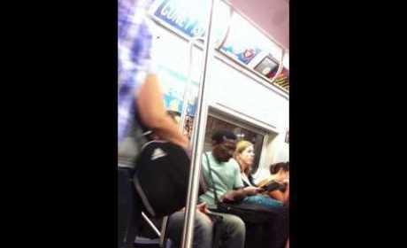 Keanu Reeves Gives Up Subway Seat