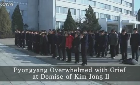 "North Korea Releases Fake ""News"" Footage of People Supposedly Mourning Kim Jong Il"