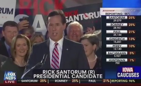 Rick Santorum Iowa Caucus Speech