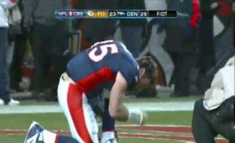 Tim Tebow Throws Winning Touchdown Pass