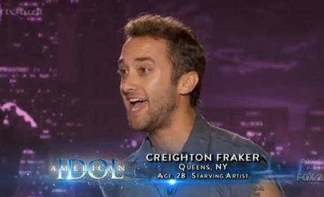 Creighton Fraker American Idol Audition